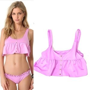 Zinke Penny Pink Tank Bikini Top sz Small